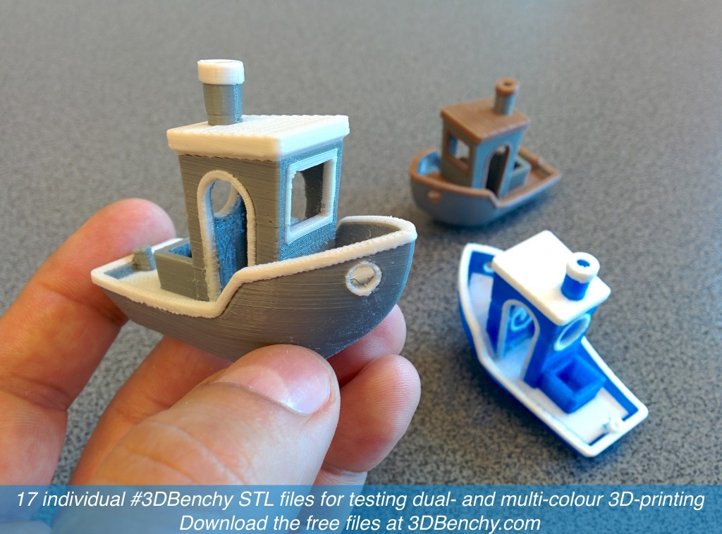 3dbenchy for dual and multi part color 3d printing File stl